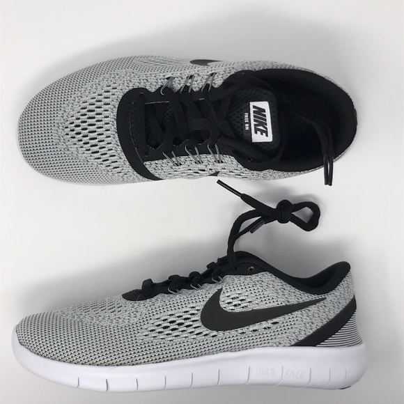 newest cd843 1afe3 Nike free RN run kids shoe grey gray black white